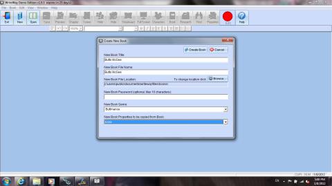 WriteWay opening screen